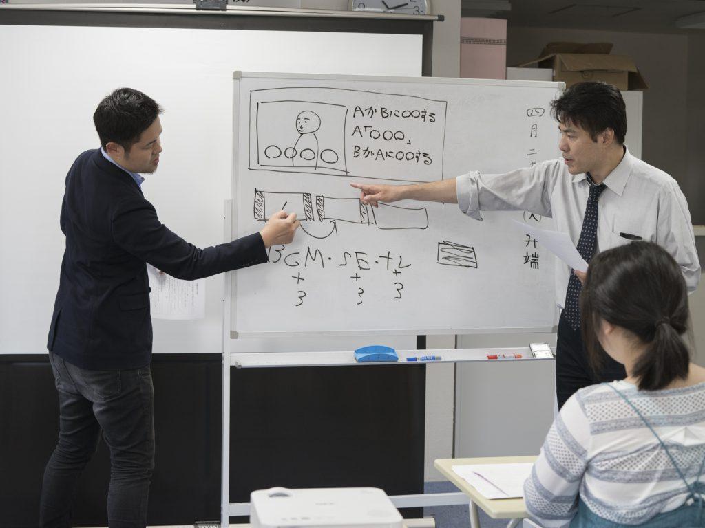 編集指示の方法を指導。