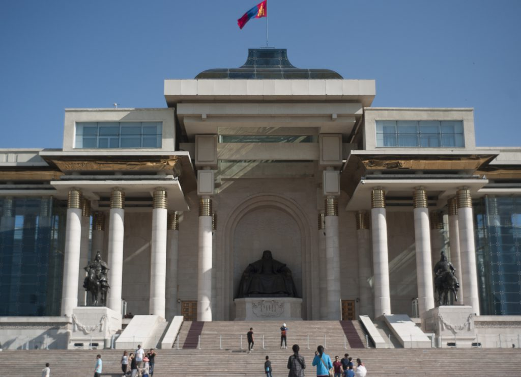 モンゴルの国会議事堂。